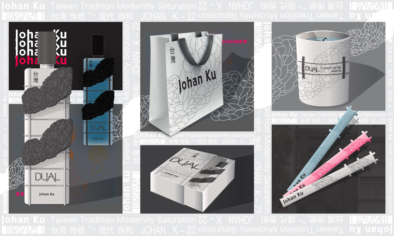 Johan Ku Fragrance packaging design product